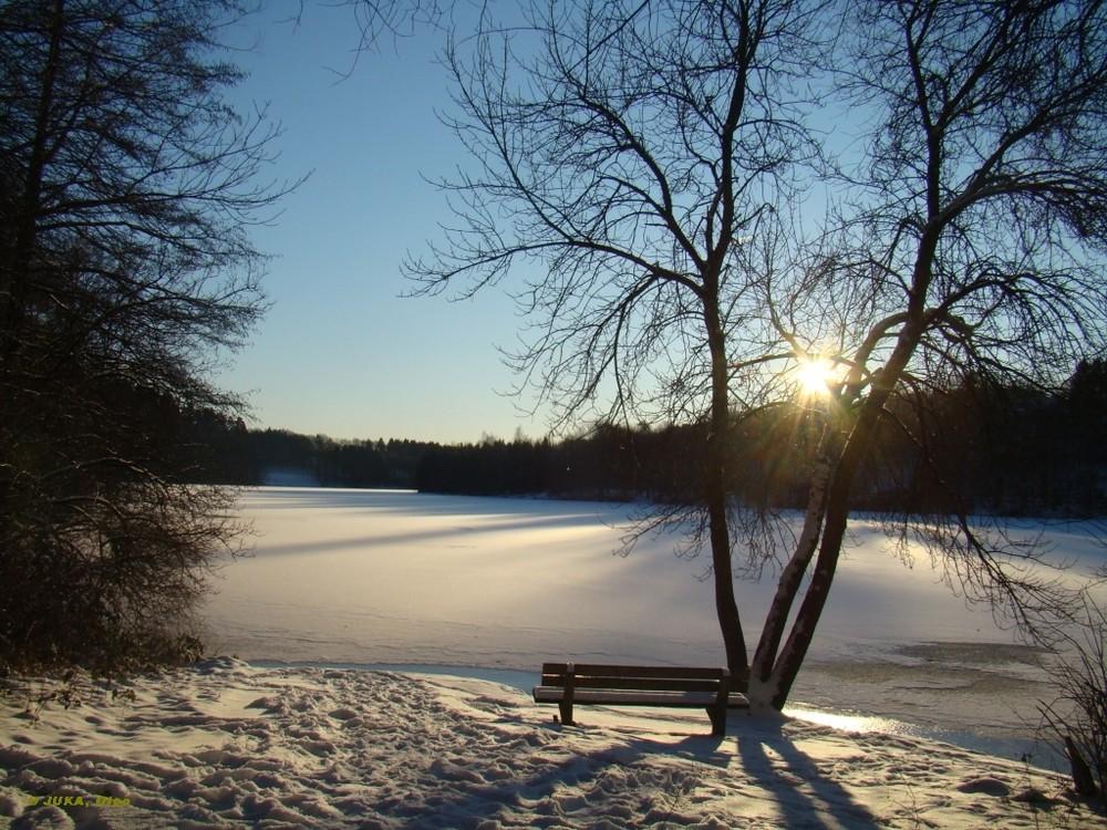Winter am Biggesee