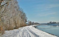 Winter am Fluss ....