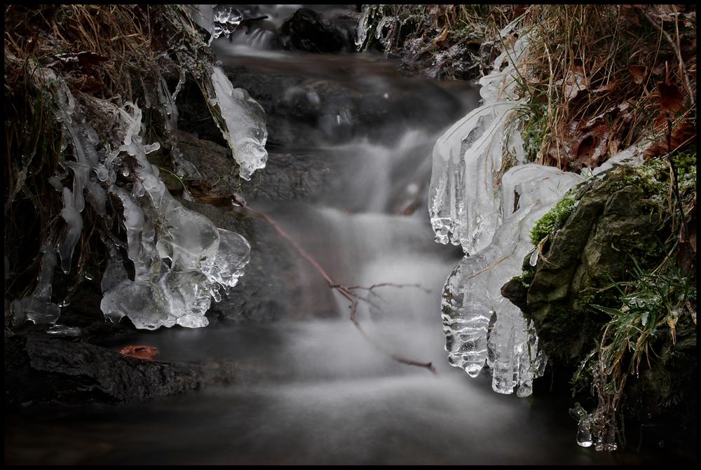 Winter am kleinen Bach