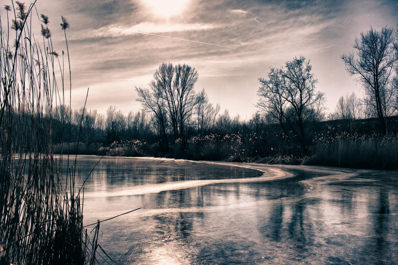 Winter am Lindenauer Hafen