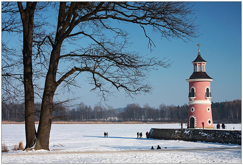 Winter am Moritzburger Leuchtturm...