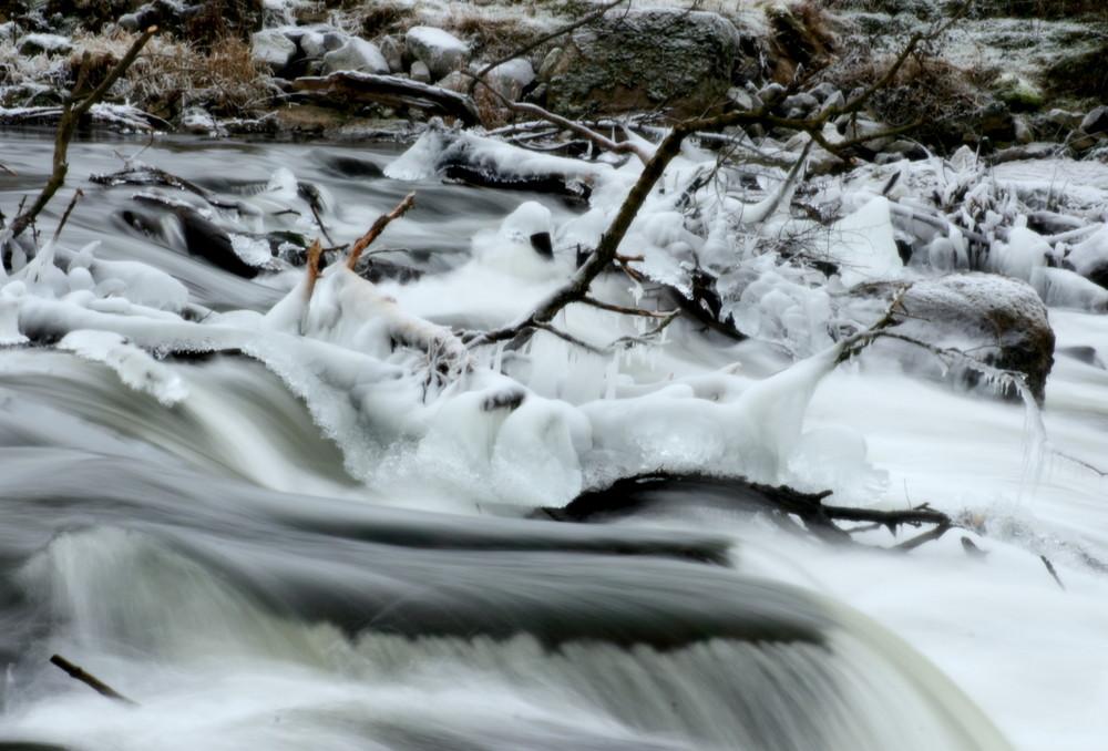Winter am Neustädter Wasserfall