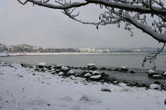 Winter am Strand bei Binz