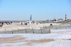 Winter am Strand von Warnemünde