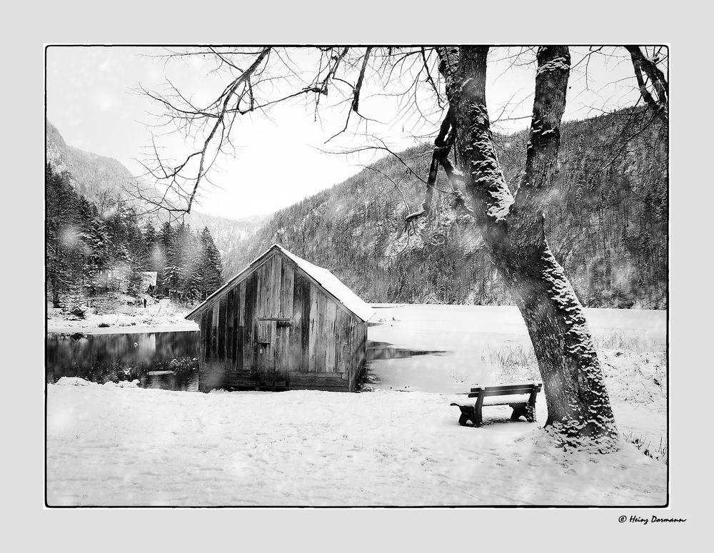 Winter am Toplitzsee im Salzkammergut