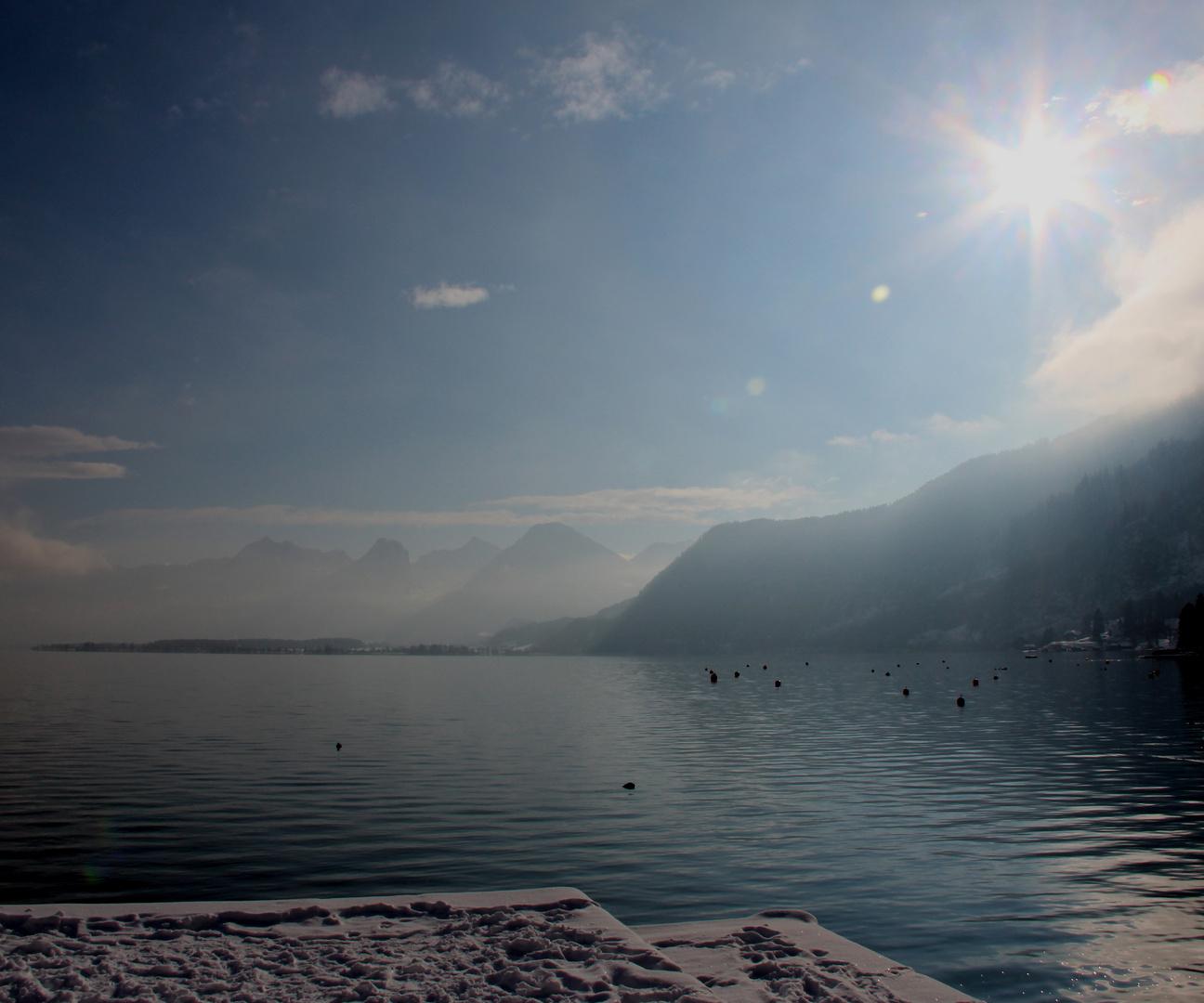 Winter am Wolfgangsee
