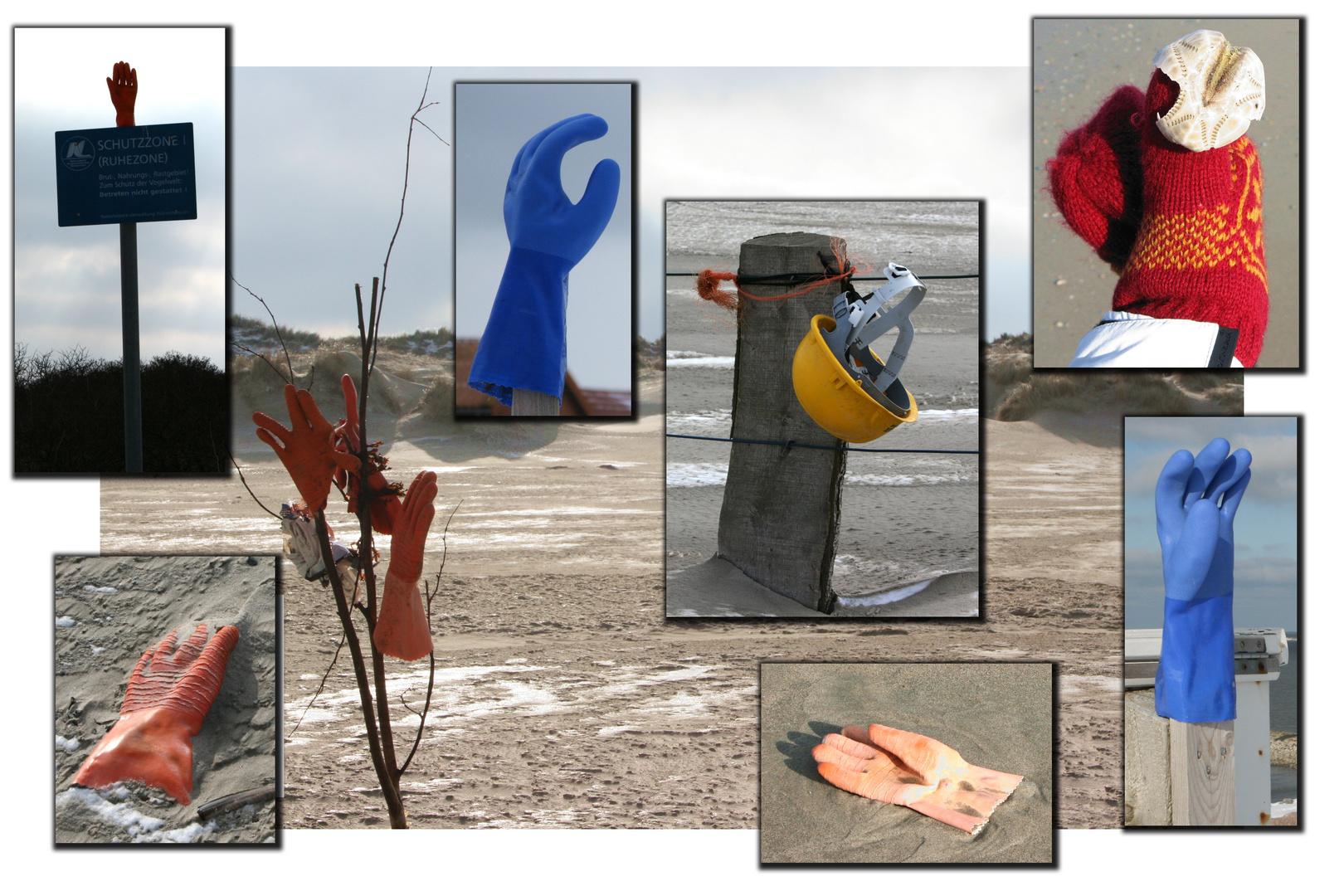 Winter an Baltrums Strand