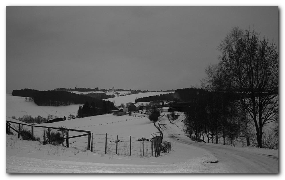 Winter an der belgischen Grenze