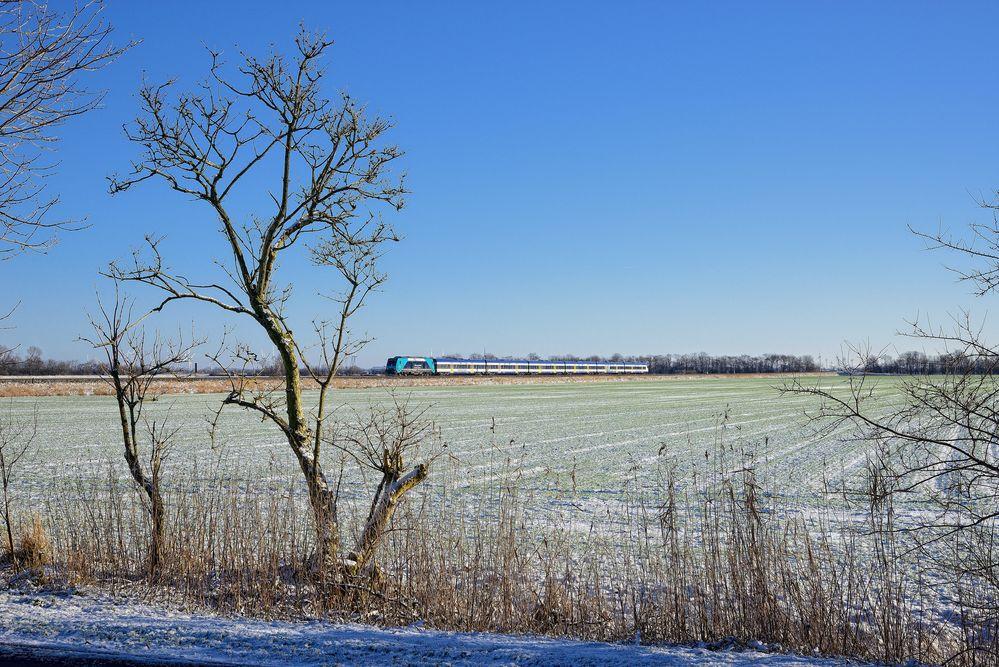 Winter an der Marschbahn