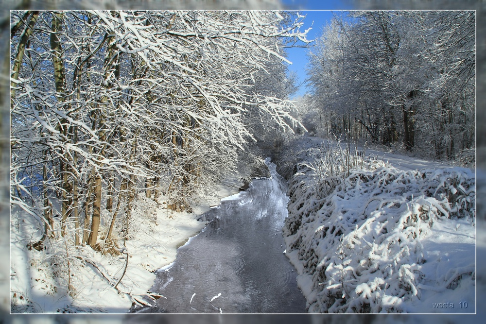 Winter an der Pößnitz / Land Brandenburg