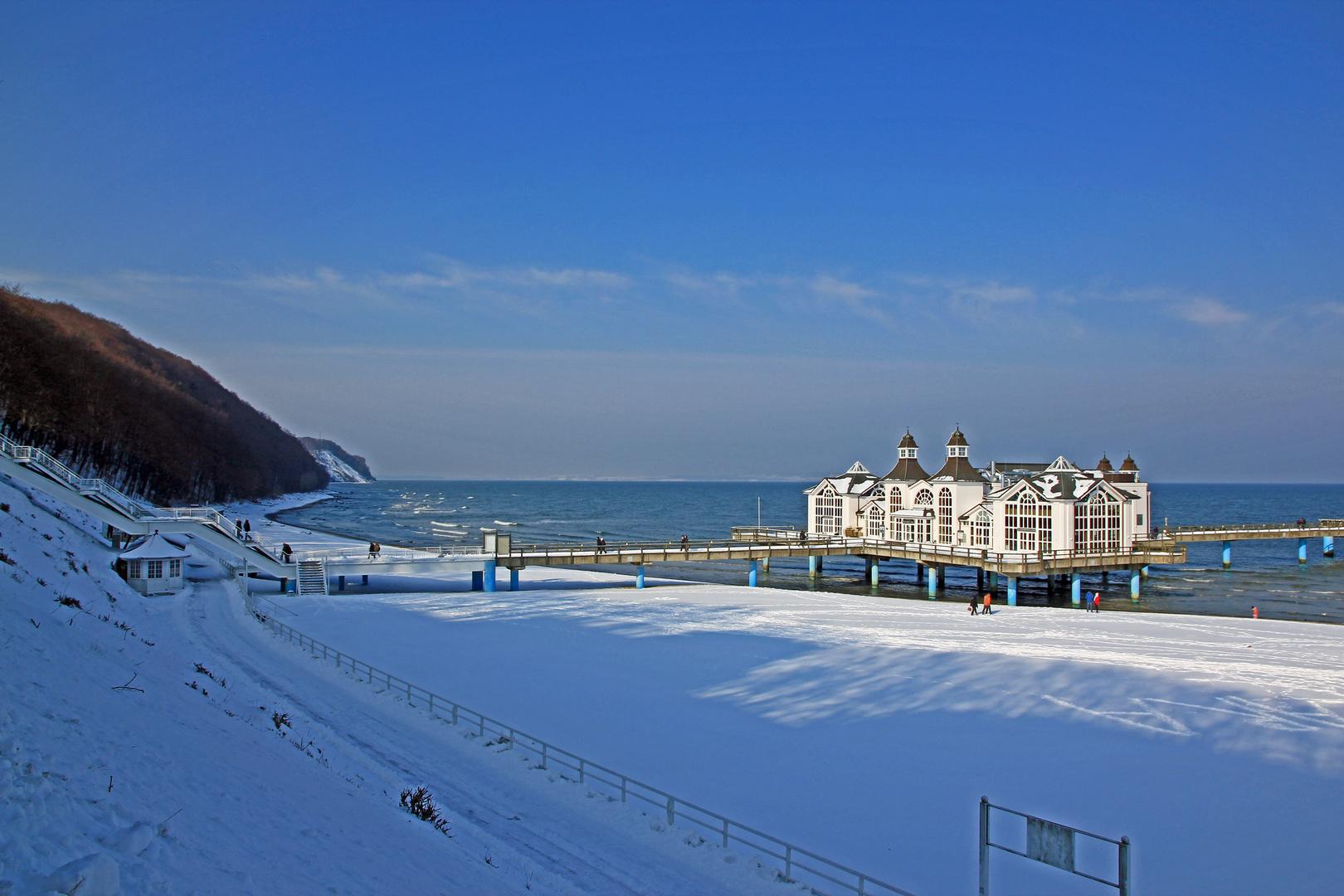 Winter an der Seebrücke
