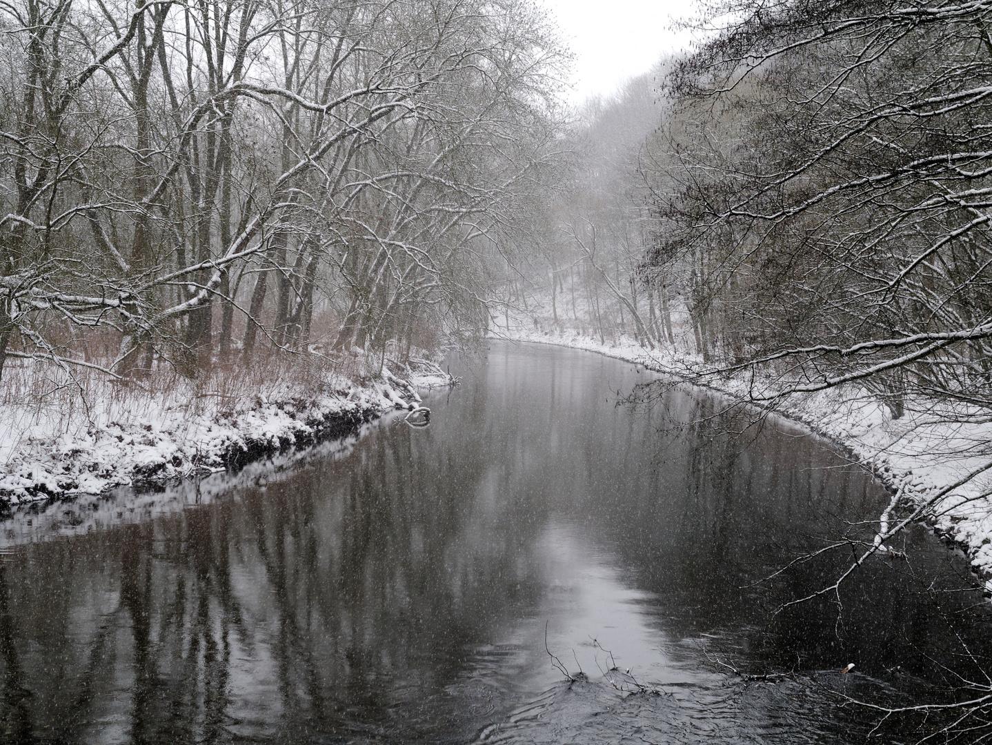 Winter an der Wupper