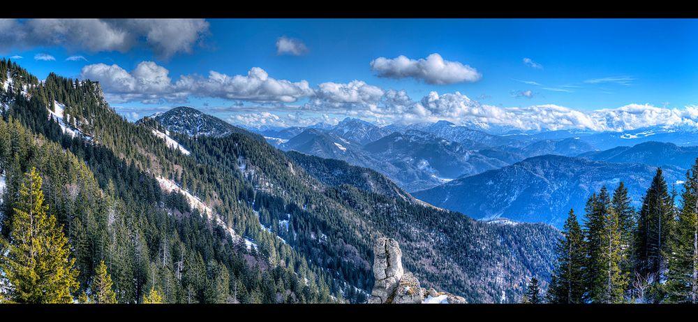 Winter auf der Nordseite der Alpen