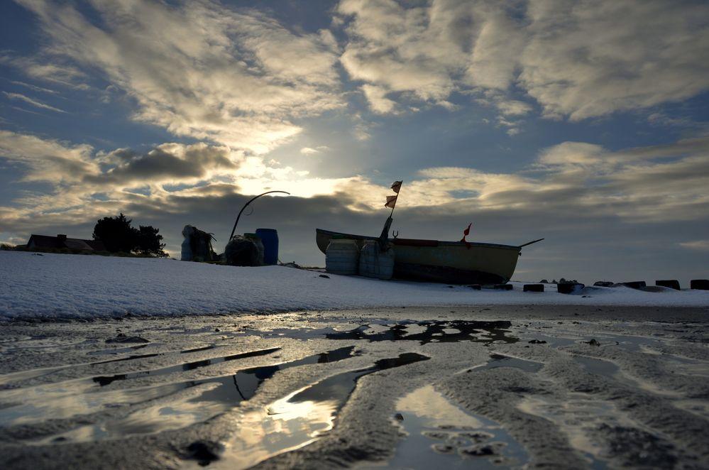 Winter Fischeboot