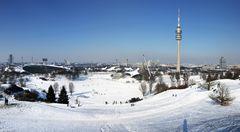 Winter im Olympiapark München