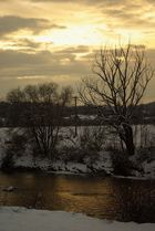 winter im sonnenuntergang