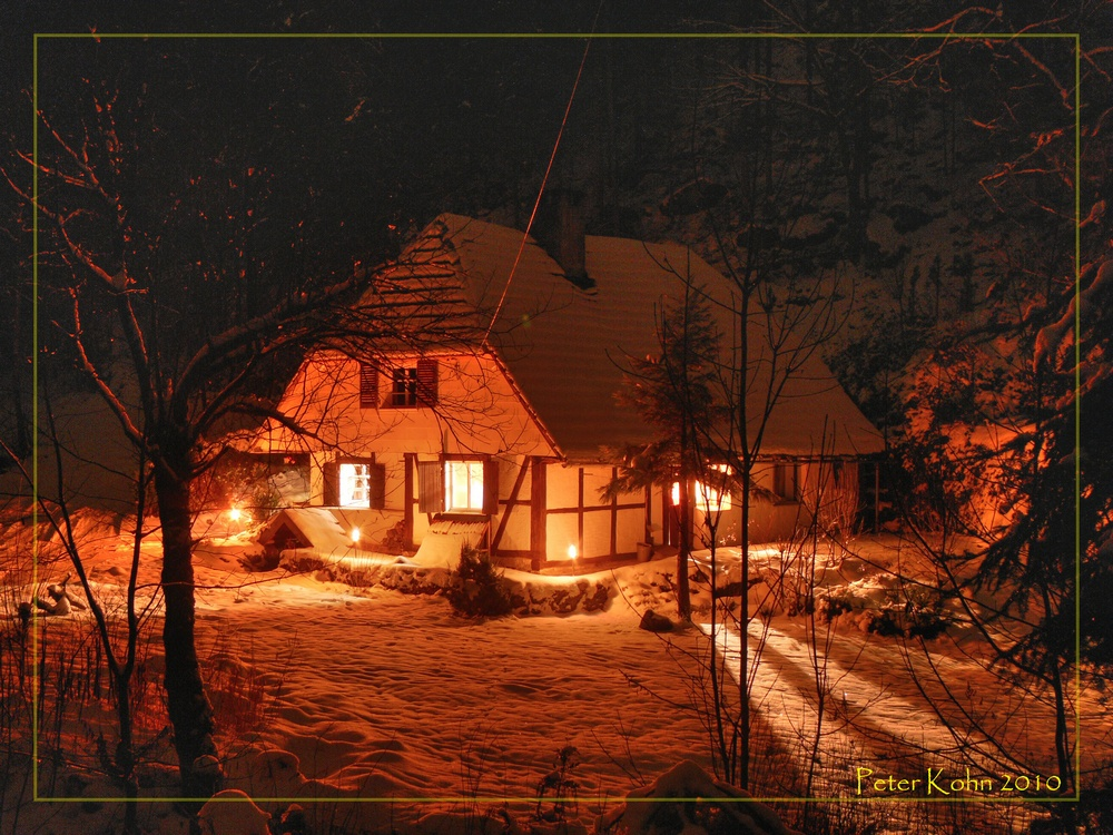 Winter im Waldhaus