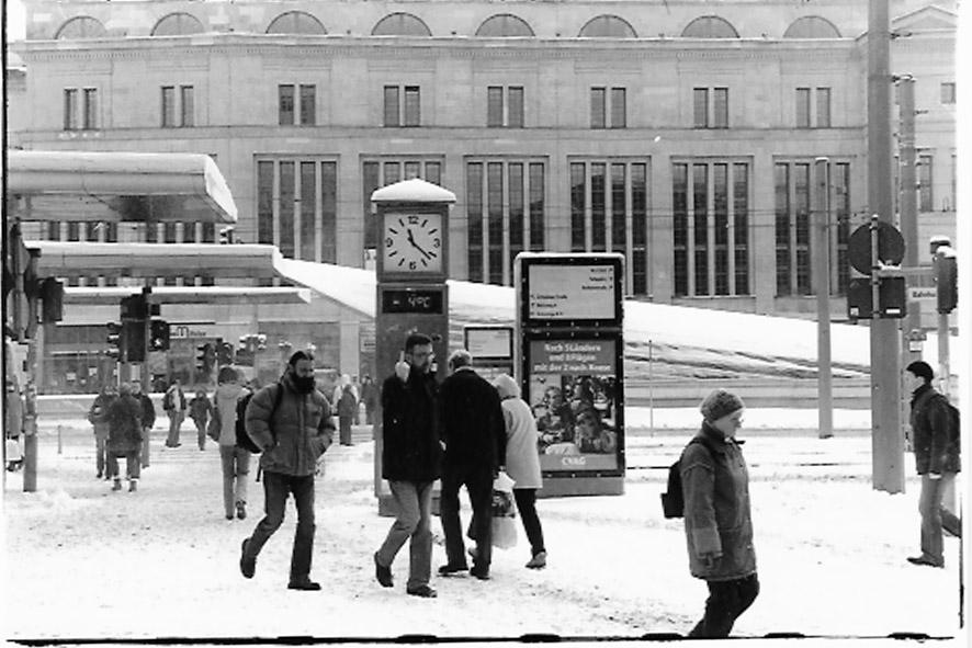 Winter in Chemnitz ...nur nette Leute