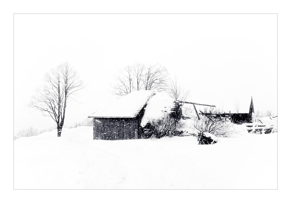 Winter in High Key