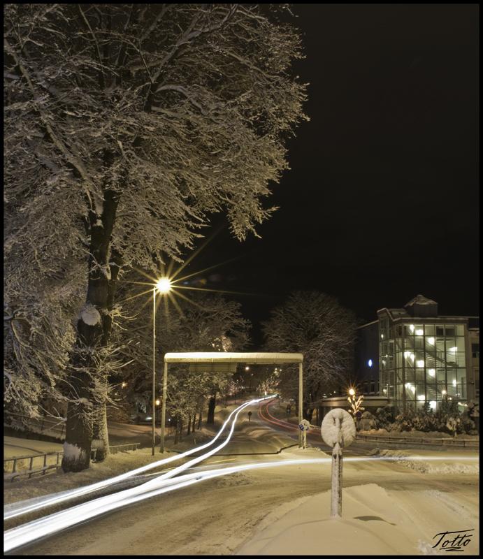 Winter in Langveien, Kristiansund