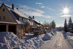 Winter in meiner Straße