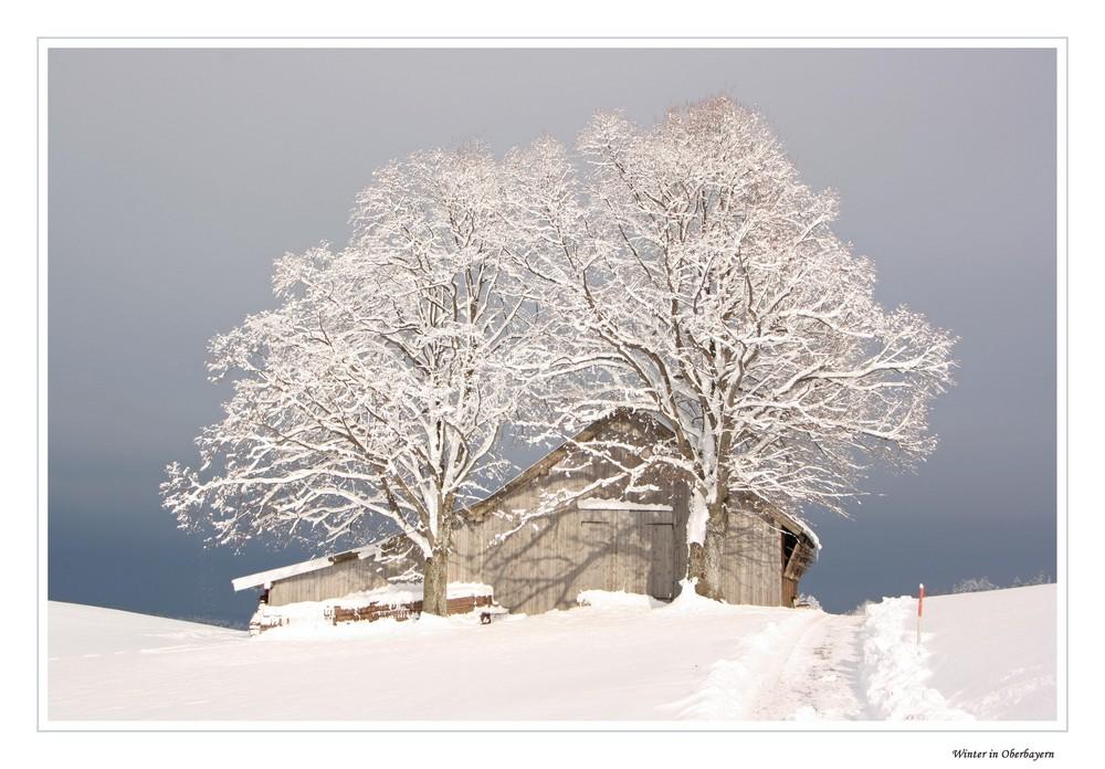 Winter in Oberbayern (überarbeitet)