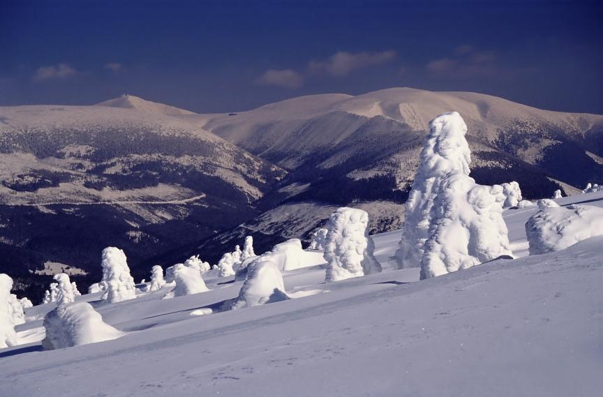 Winter on mountains