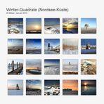 Winter-Quadrate (Nordsee-Küste)