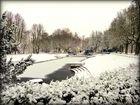 Winter scene from the city park Noorder Plantsoen