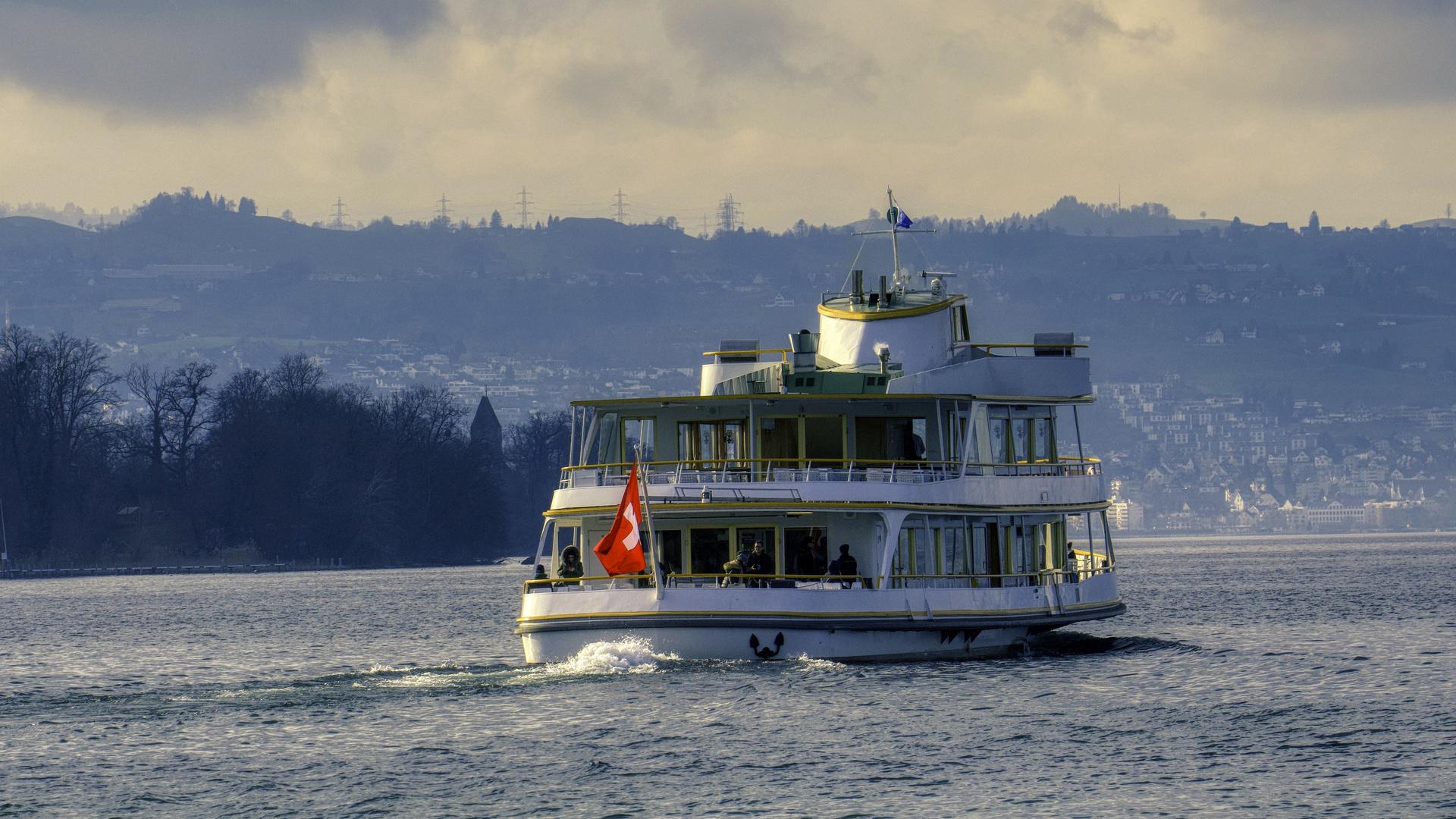 Winter Schifffahrt