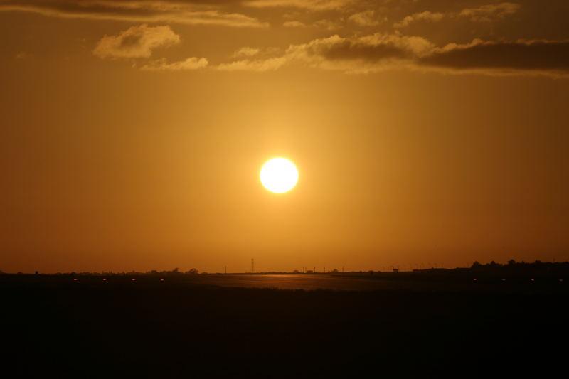 Winter senset over RAF Marham