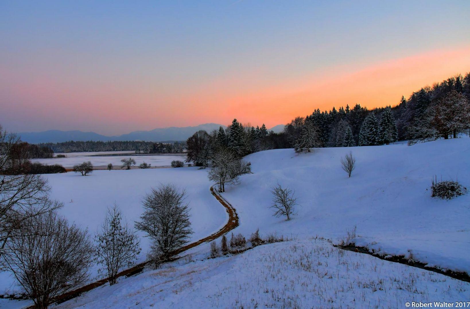 Winter-Sonnenuntergang