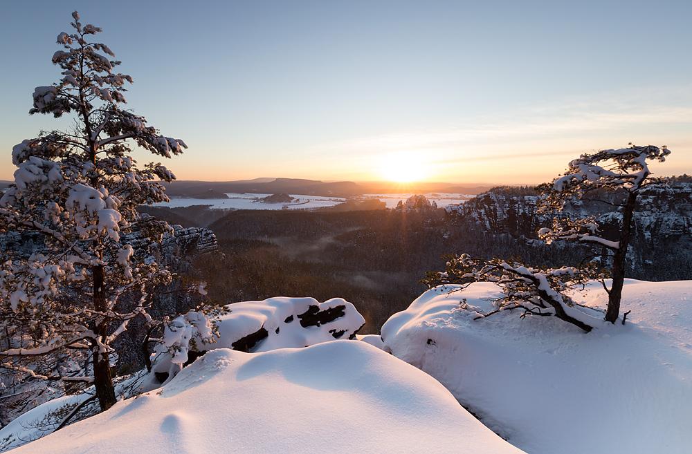 Winter über dem Heringsgrund