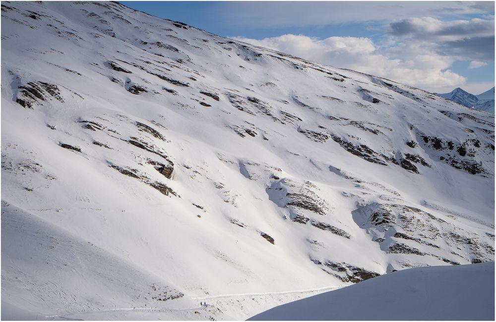 Winter Wanderweg.