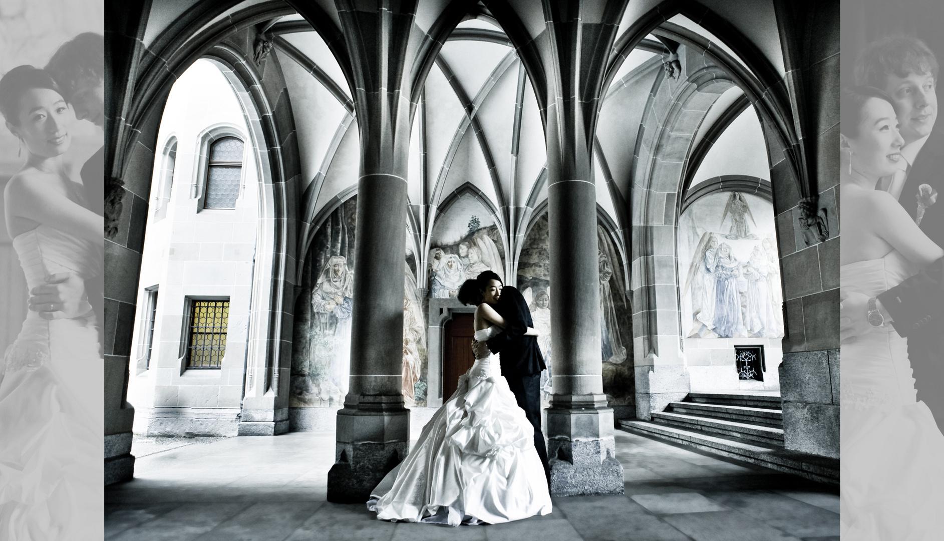 Winter Wedding Silence Foto Bild Hochzeit Brautpaar Brautpaar