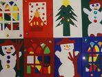 Winter   -    Weihnachtskarten - selbst gebastelt