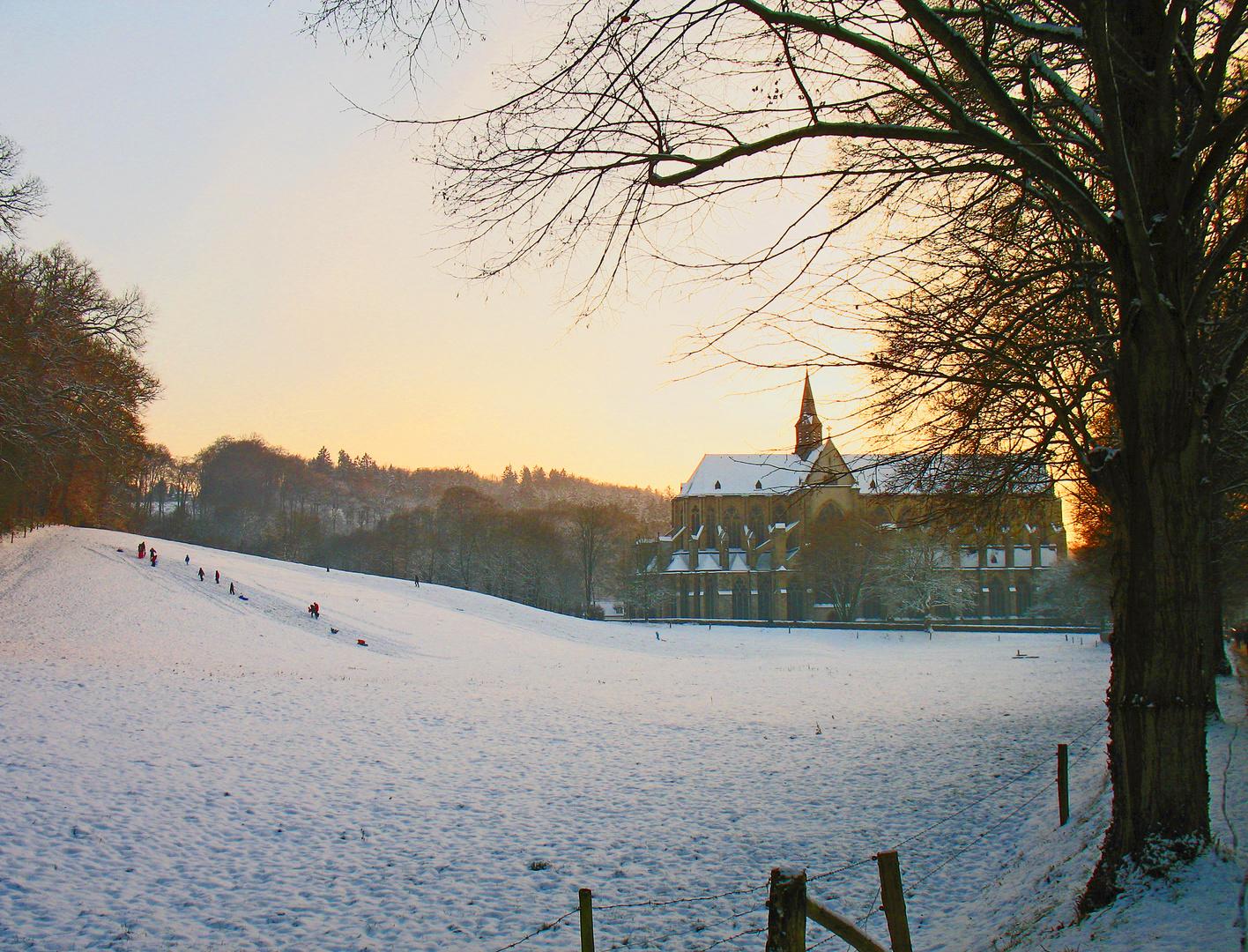 Winterabend am Altenberger Dom
