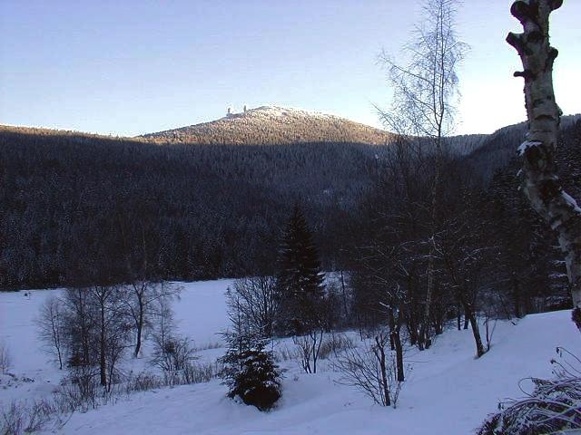Winterabend am Kleinen Arbersee