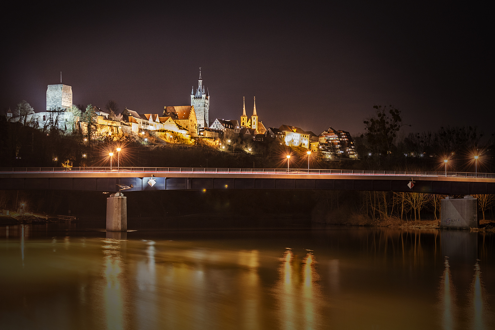 * * * Winterabend am Neckar * * *