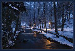 Winterabend an der Enz