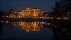 Winterabend an der Weser