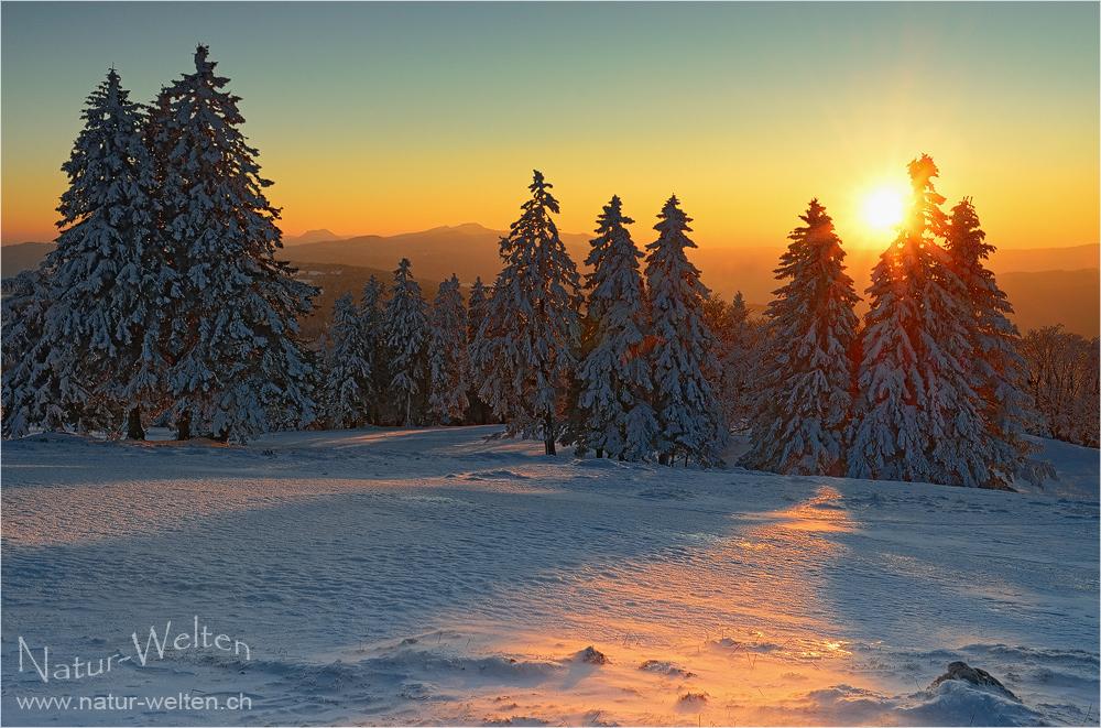 Winterabend im Jura
