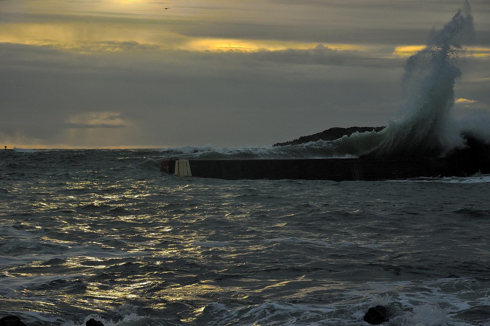 Winterabend in der Bretagne.