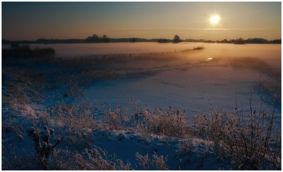 Winterabend in Versmolder Bruch