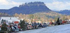 Winterabschied in Pfaffendorf und von der Festung Königstein
