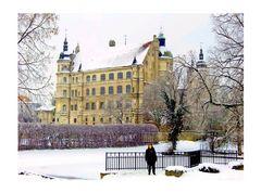 Winteransicht Schloss Güstrow