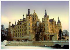 Winteransicht Schloss Schwerin