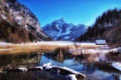 Winteransicht vom Leopoldsteinersee