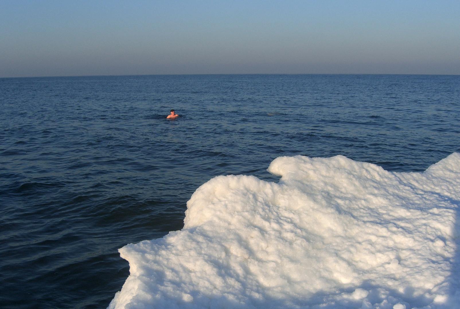 Winterbaden an der Ostsee