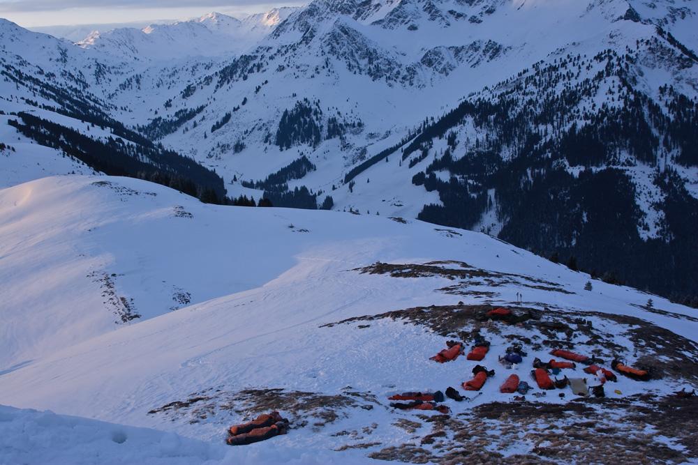 winterbiwak in den kitzb hler alpen joelspitze foto. Black Bedroom Furniture Sets. Home Design Ideas